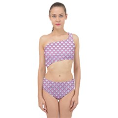 Scales2 White Marble & Pink Denim (r) Spliced Up Two Piece Swimsuit