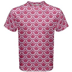 SCALES2 WHITE MARBLE & PINK DENIM Men s Cotton Tee
