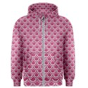 SCALES2 WHITE MARBLE & PINK DENIM Men s Zipper Hoodie View1