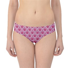 SCALES2 WHITE MARBLE & PINK DENIM Hipster Bikini Bottoms