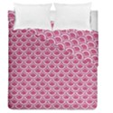 SCALES2 WHITE MARBLE & PINK DENIM Duvet Cover Double Side (Queen Size) View1
