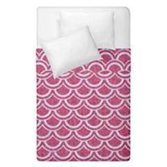 SCALES2 WHITE MARBLE & PINK DENIM Duvet Cover Double Side (Single Size)