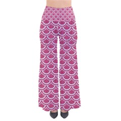 SCALES2 WHITE MARBLE & PINK DENIM So Vintage Palazzo Pants