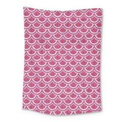 SCALES2 WHITE MARBLE & PINK DENIM Medium Tapestry