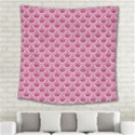 SCALES2 WHITE MARBLE & PINK DENIM Square Tapestry (Large) View2