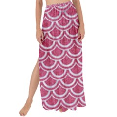 SCALES2 WHITE MARBLE & PINK DENIM Maxi Chiffon Tie-Up Sarong