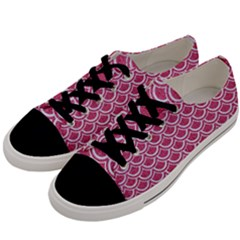 SCALES2 WHITE MARBLE & PINK DENIM Men s Low Top Canvas Sneakers