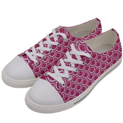 SCALES2 WHITE MARBLE & PINK DENIM Women s Low Top Canvas Sneakers