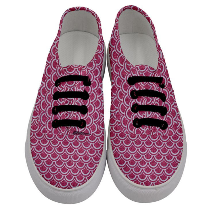 SCALES2 WHITE MARBLE & PINK DENIM Men s Classic Low Top Sneakers