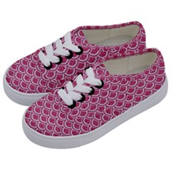 SCALES2 WHITE MARBLE & PINK DENIM Kids  Classic Low Top Sneakers