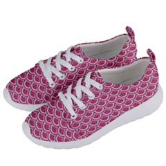 SCALES2 WHITE MARBLE & PINK DENIM Women s Lightweight Sports Shoes