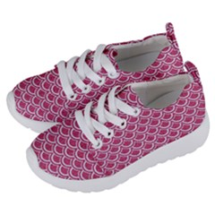 SCALES2 WHITE MARBLE & PINK DENIM Kids  Lightweight Sports Shoes