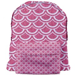 SCALES2 WHITE MARBLE & PINK DENIM Giant Full Print Backpack