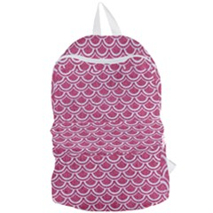 SCALES2 WHITE MARBLE & PINK DENIM Foldable Lightweight Backpack