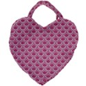 SCALES2 WHITE MARBLE & PINK DENIM Giant Heart Shaped Tote View1