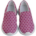 SCALES2 WHITE MARBLE & PINK DENIM Kid s Lightweight Slip Ons View1