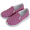 SCALES2 WHITE MARBLE & PINK DENIM Kid s Lightweight Slip Ons View2