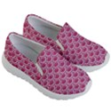 SCALES2 WHITE MARBLE & PINK DENIM Kid s Lightweight Slip Ons View3