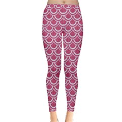 SCALES2 WHITE MARBLE & PINK DENIM Inside Out Leggings