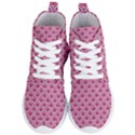 SCALES2 WHITE MARBLE & PINK DENIM Women s Lightweight High Top Sneakers View1