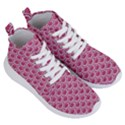 SCALES2 WHITE MARBLE & PINK DENIM Women s Lightweight High Top Sneakers View3