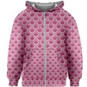 SCALES2 WHITE MARBLE & PINK DENIM Kids Zipper Hoodie Without Drawstring View1