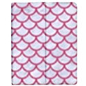 SCALES1 WHITE MARBLE & PINK DENIM (R) Apple iPad 2 Flip Case View1