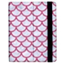 SCALES1 WHITE MARBLE & PINK DENIM (R) Apple iPad 2 Flip Case View2
