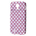 SCALES1 WHITE MARBLE & PINK DENIM (R) Samsung Galaxy S4 I9500/I9505 Hardshell Case View3