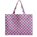 SCALES1 WHITE MARBLE & PINK DENIM (R) Zipper Mini Tote Bag View1