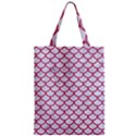 SCALES1 WHITE MARBLE & PINK DENIM (R) Zipper Classic Tote Bag View1