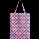 SCALES1 WHITE MARBLE & PINK DENIM (R) Zipper Classic Tote Bag View2