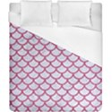 SCALES1 WHITE MARBLE & PINK DENIM (R) Duvet Cover (California King Size) View1
