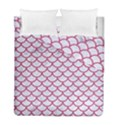SCALES1 WHITE MARBLE & PINK DENIM (R) Duvet Cover Double Side (Full/ Double Size) View1