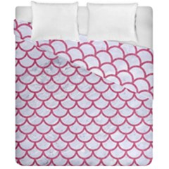 Scales1 White Marble & Pink Denim (r) Duvet Cover Double Side (california King Size) by trendistuff