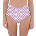 SCALES1 WHITE MARBLE & PINK DENIM (R) Reversible High-Waist Bikini Bottoms View1