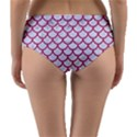 SCALES1 WHITE MARBLE & PINK DENIM (R) Reversible Mid-Waist Bikini Bottoms View2