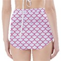 SCALES1 WHITE MARBLE & PINK DENIM (R) High-Waisted Bikini Bottoms View2