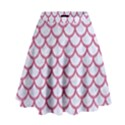 SCALES1 WHITE MARBLE & PINK DENIM (R) High Waist Skirt View1