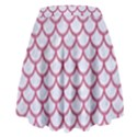 SCALES1 WHITE MARBLE & PINK DENIM (R) High Waist Skirt View2