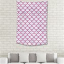 SCALES1 WHITE MARBLE & PINK DENIM (R) Small Tapestry View2
