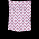 SCALES1 WHITE MARBLE & PINK DENIM (R) Large Tapestry View2