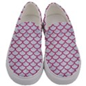 SCALES1 WHITE MARBLE & PINK DENIM (R) Men s Canvas Slip Ons View1