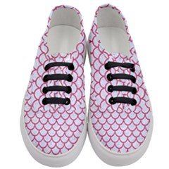 Scales1 White Marble & Pink Denim (r) Women s Classic Low Top Sneakers