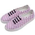 SCALES1 WHITE MARBLE & PINK DENIM (R) Women s Classic Low Top Sneakers View2