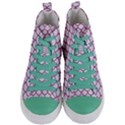 SCALES1 WHITE MARBLE & PINK DENIM (R) Women s Mid-Top Canvas Sneakers View1
