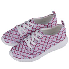 Scales1 White Marble & Pink Denim (r) Women s Lightweight Sports Shoes by trendistuff