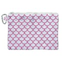 SCALES1 WHITE MARBLE & PINK DENIM (R) Canvas Cosmetic Bag (XL) View1