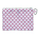 SCALES1 WHITE MARBLE & PINK DENIM (R) Canvas Cosmetic Bag (XL) View2