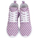 SCALES1 WHITE MARBLE & PINK DENIM (R) Women s Lightweight High Top Sneakers View1